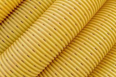 Yellow drainage pipe/