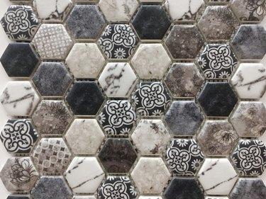 Mosaic ceramic tiles.
