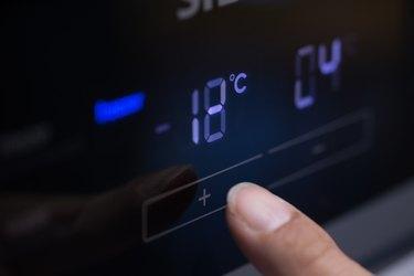 Pressing fridge Button