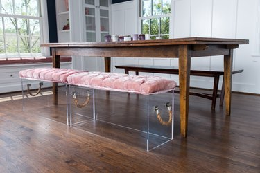 Dining Table With Acrylic Benches