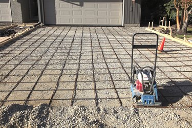 Residential Driveway Ready For Pouring The Concrete