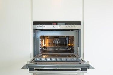 Detail of modern oven