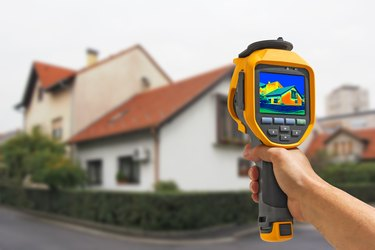 Recording heat loss in a house.
