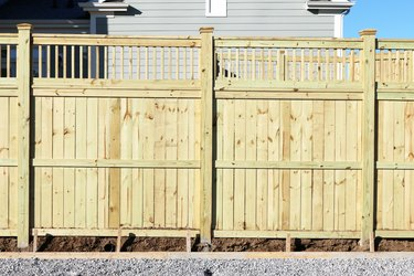 New wood privacy fence