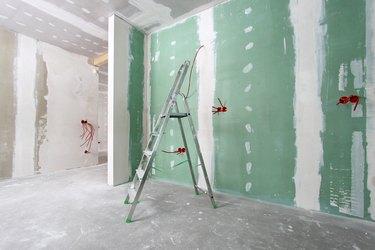 drywalled walls