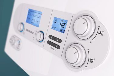 Smart control panel household gas boiler