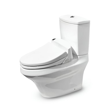 High-tech Toto toilet with Washlet seat