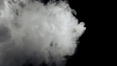 Abstract white smoke
