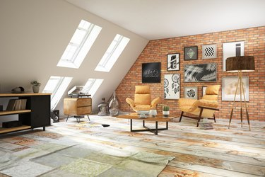 Loft Room with Armchairs.