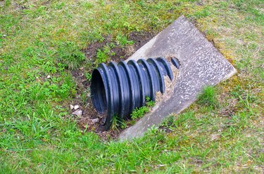 Plastic water drainage pipe.
