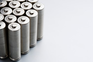 Stack of batteries