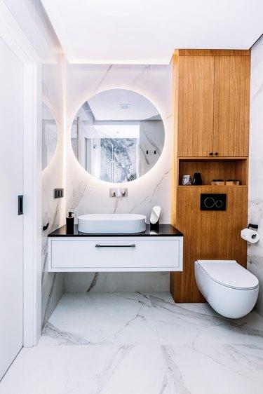Modern new luxury bathroom. Interior design