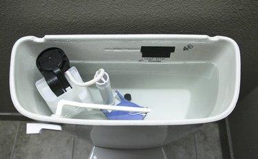 Internal Plumbing of a Modern Toilet