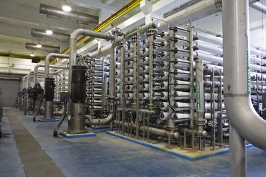 Interior of Reverse Osmosis Water Purification Plant