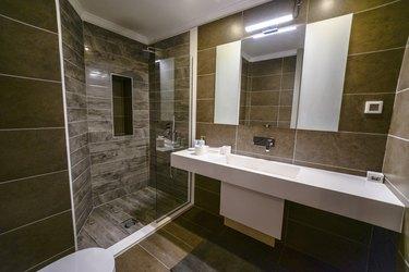 Luxurious Bathroom In A Beautiful Hotel