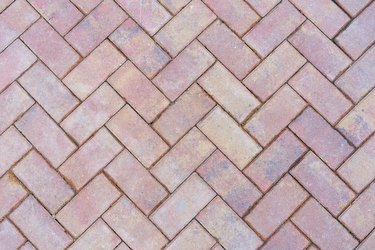 beautiful background of paving slabs closeup