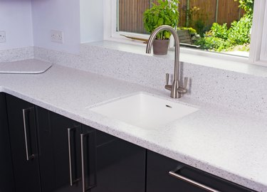 Under-mount sink with laminate counter