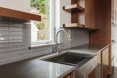 Modern bright sleek kitchen