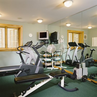 Gym in Finished Basement
