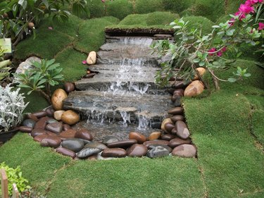 Artificial Waterfall At Park