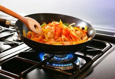 Wok cooking Stirfry