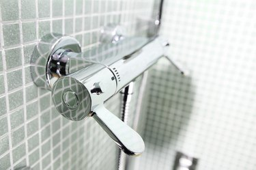 Shower valve handle