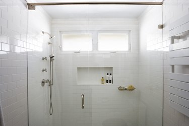 Large White Shower Stall