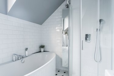 Exclusive white bathroom