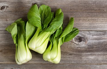 Directly Above Shot Of Bok Choys On Table
