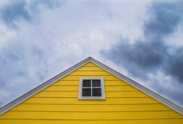 Colorful gable.