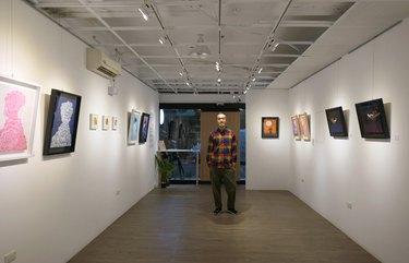 Artist Martin Hsu in Taiwan at Taipei's CC Gallery