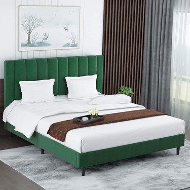 Amolife Queen Size Platform Bed Frame