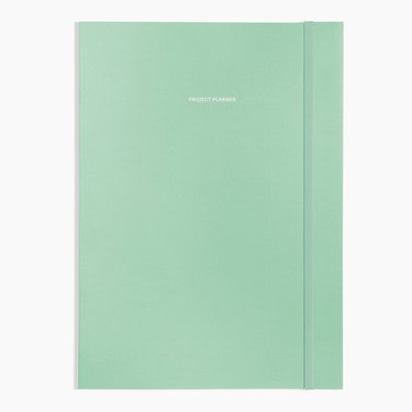mint planner with band
