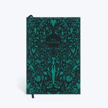 botanical print planner