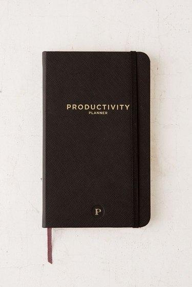 black productivity planner