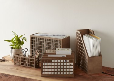 desktop organizing bins
