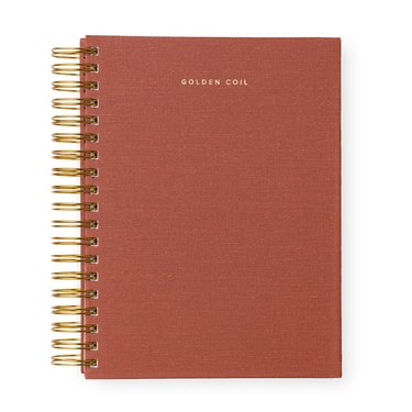 gold coil pink planner
