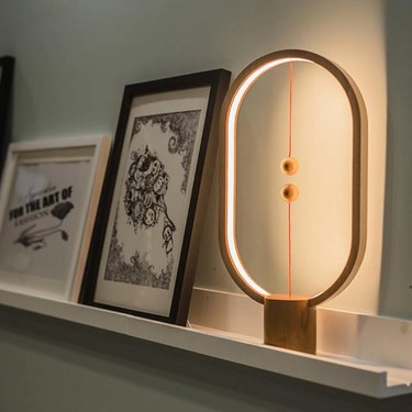 HomeDecorAndMore Wood Magnetic Table Light, $59.97 ambient lighting