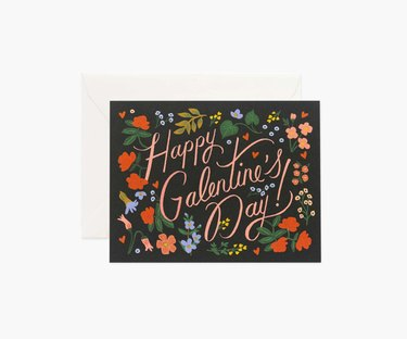 "card that reads ""happy galentine's day"""