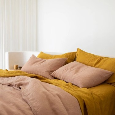 eco-friendly sheets Cultiver Linen Sheet Set with Pillowcases, starting at $385