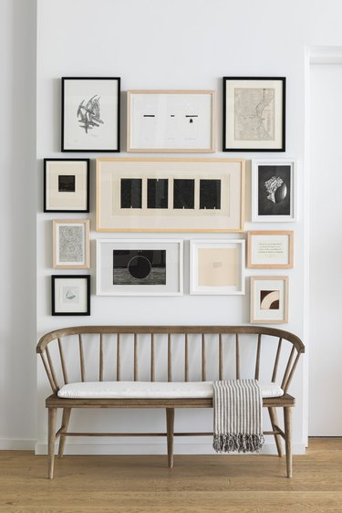 Small entryway with gallery wall designed by Chango & Co.