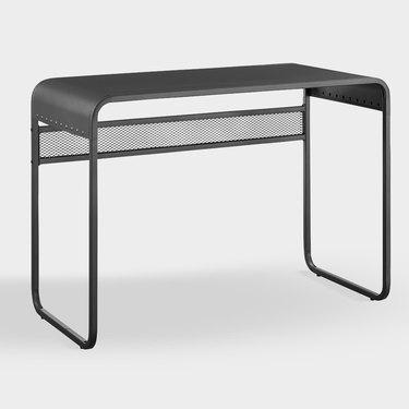 black modern desk