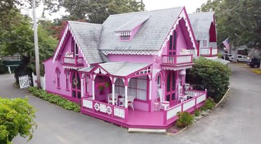 the pink house cottage in Martha's Vineyard Camp Meeting Association