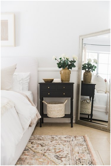 cozy contemporary small guest room ideas with full length mirror