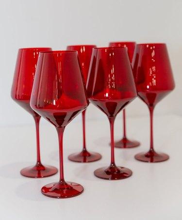 Estelle Colored Glass red wine glasses