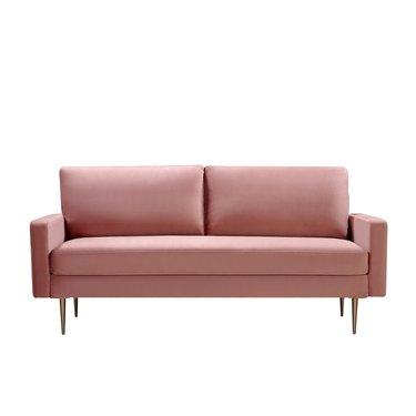 Everly Quinn Cass Velvet Square Arm Sofa