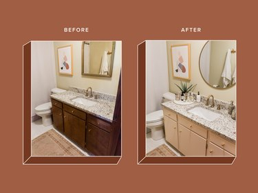 Bathroom Vanity Repaint Before and After Images