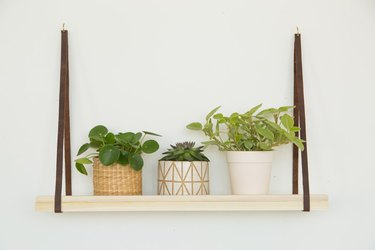 DIY Hanging Plant Shelf with planters