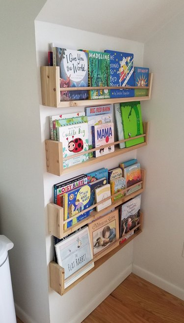 Bookshelves for Small Spaces in corner
