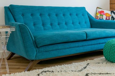 teal loveseats for small spaces